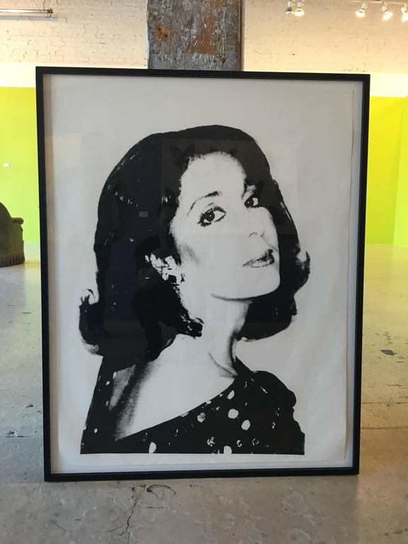 Screenprint on Curtis rag paper 1977 Authorized by The Andy Warhol Foundation for the Visual Arts stamped on verso EXTREMELY RARE!  PROVENANCE- ANDY WARHOL AT CHRISTIE'S SOLD TO BENEFIT THE ANDY WARHOL FOUNDATION FOR THE VISUAL ARTS SALE