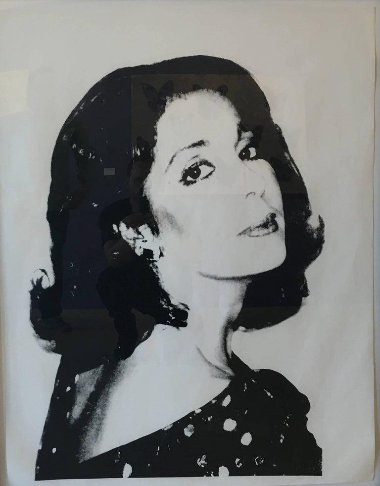 Andy Warhol Portrait Print - Unknown Female