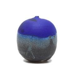 Cobalt Blue Moon Pot with Rattles