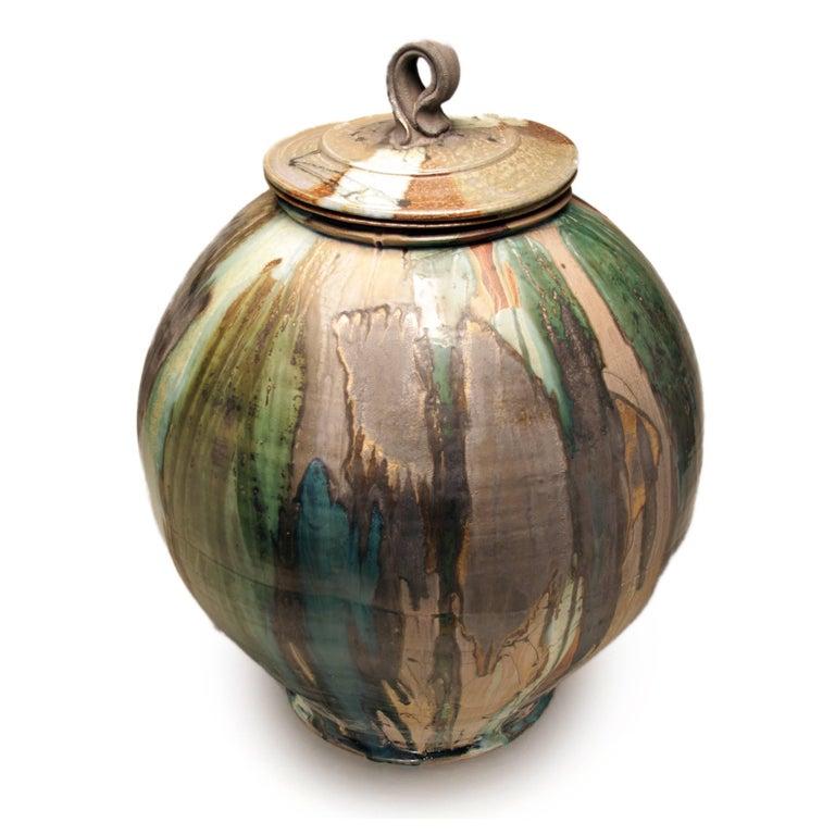 Large Covered Jar 3 - Art by Josh DeWeese