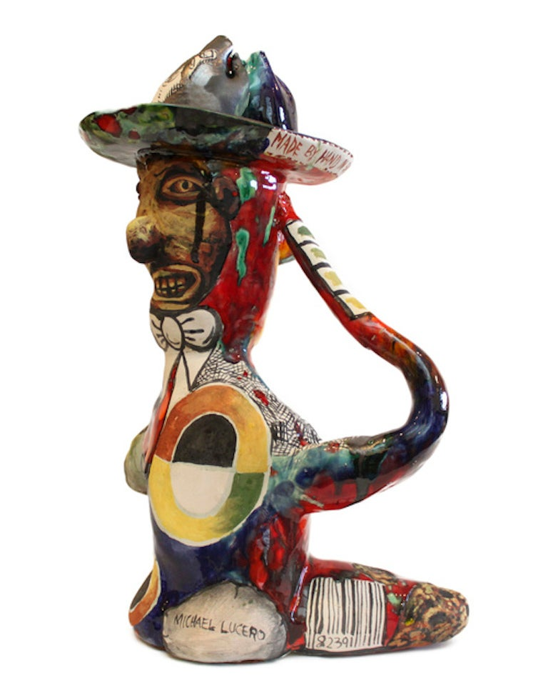 Michael Lucero Seated Man With Ohr Hat For Sale At 1stdibs