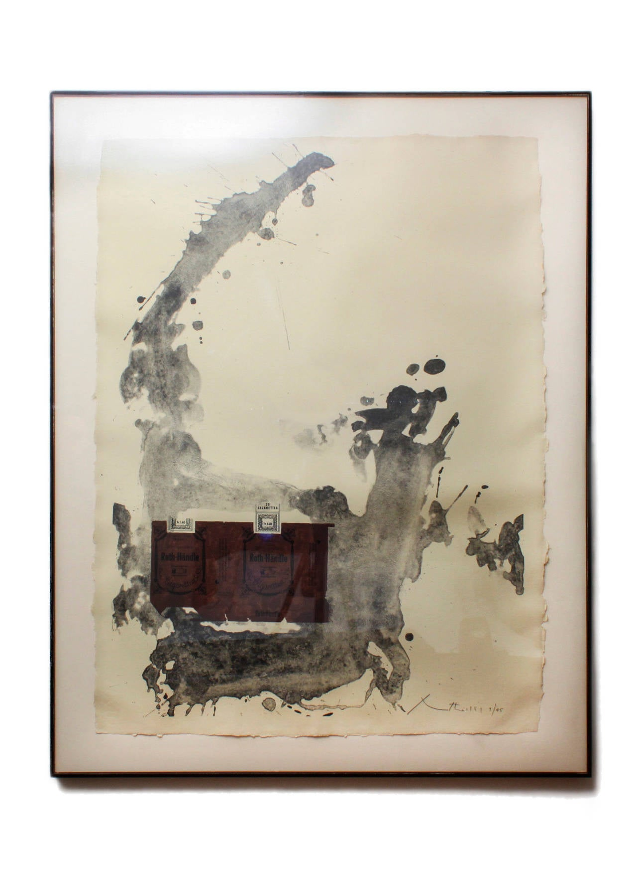 Robert Motherwell Tobacco Roth Handle Print For Sale At
