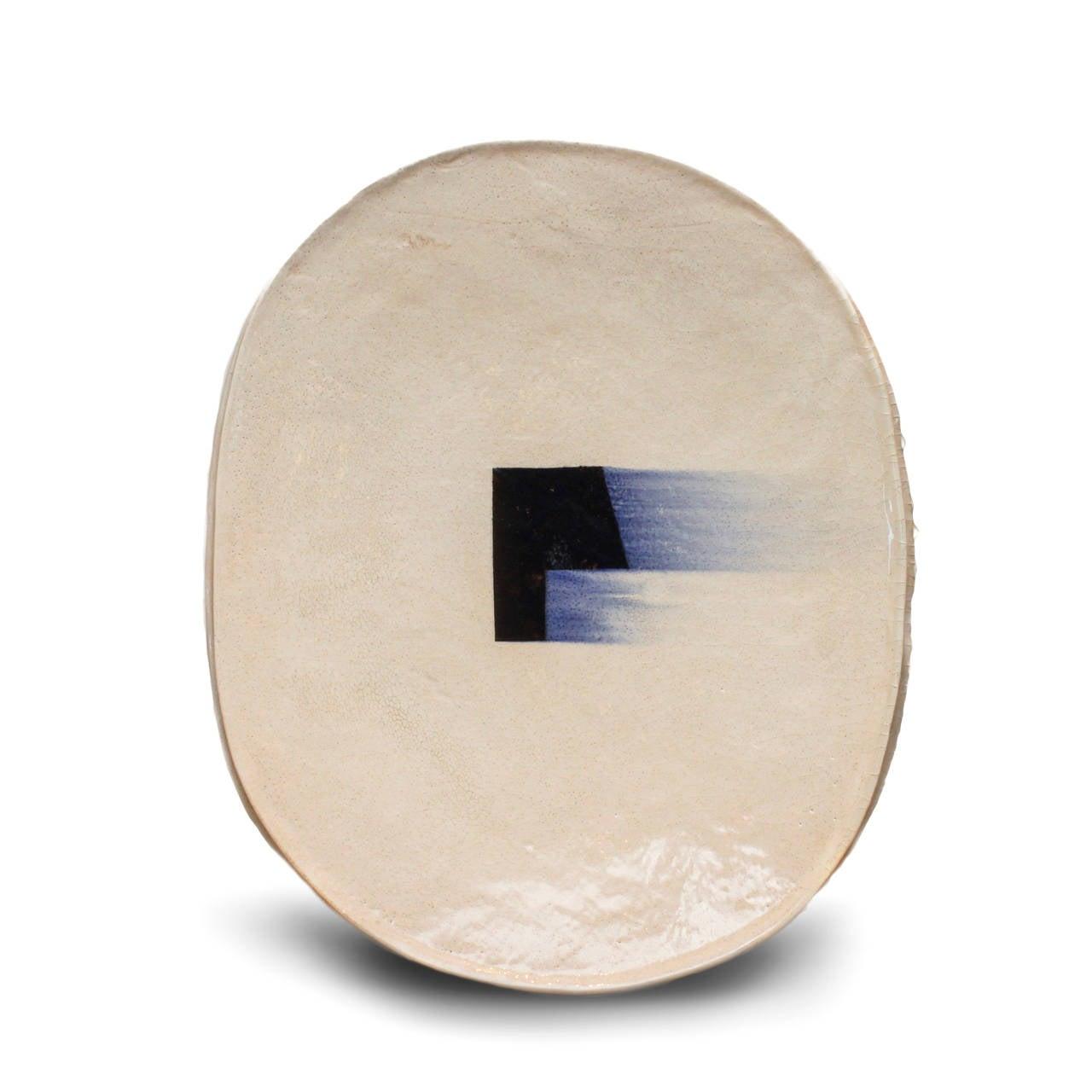 Untitled, Plate 1 - Sculpture by Jun Kaneko
