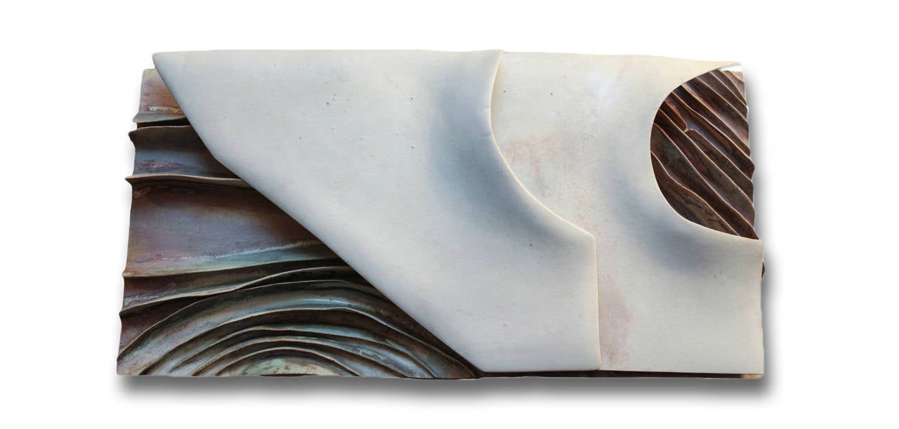 Ruth Duckworth Abstract Sculpture - untitled monumental wall sculpture