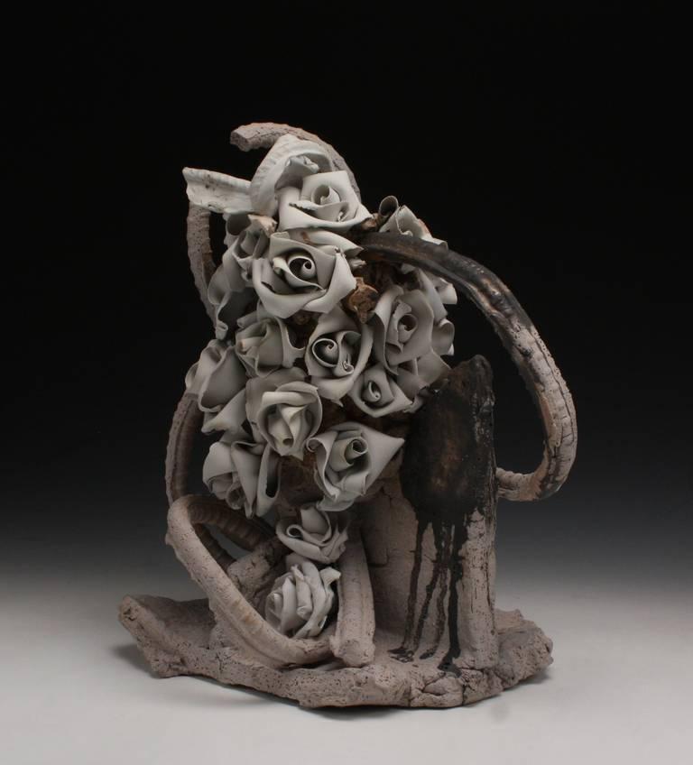 Arrangement Chunk #2 - Black Abstract Sculpture by Ryan Mitchell