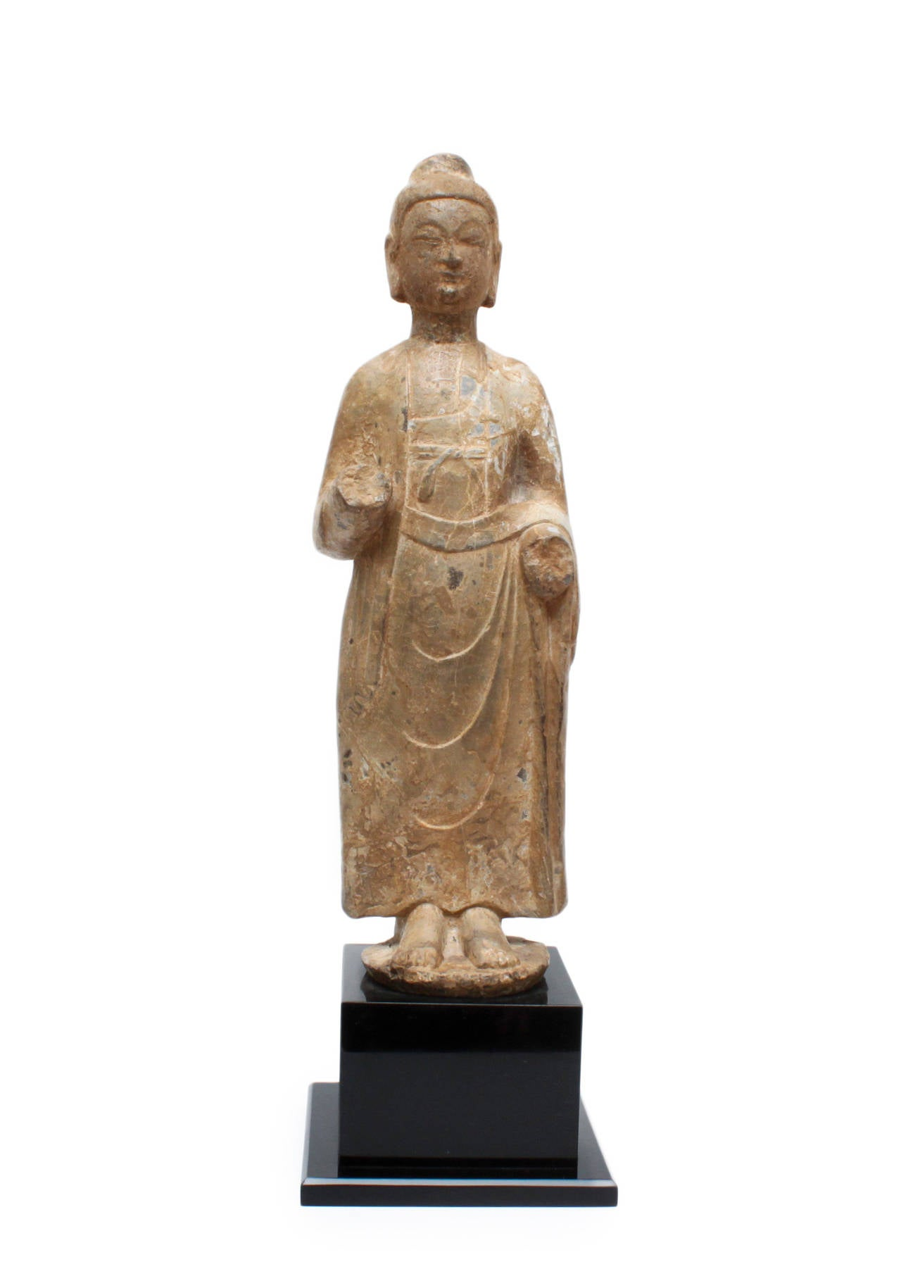 Unknown antique carved buddha stone sculpture