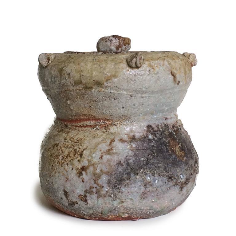 Shigaraki Mizusashi (Tea Ceremony Water Jar) - Contemporary Art by Furutani Michio