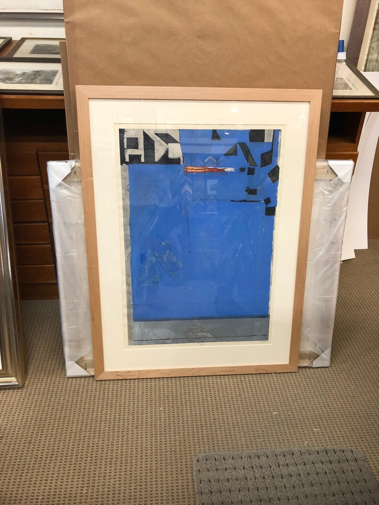 Blue with Red by Richard Diebenkorn For Sale 1