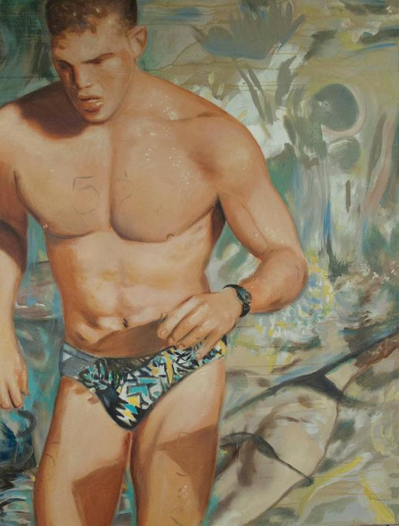 Antonio Ugarte Portrait Painting - Triathlete Joe Almond