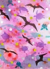 Purple Drawings and Watercolor Paintings