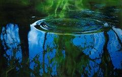 Liquid Pattern II- Deep Blue water 23.5 X 37.5