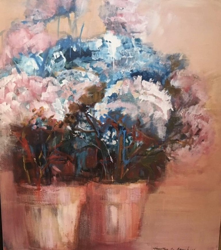 Timothy Sanchez Still-Life Painting - Hydrangeas Two