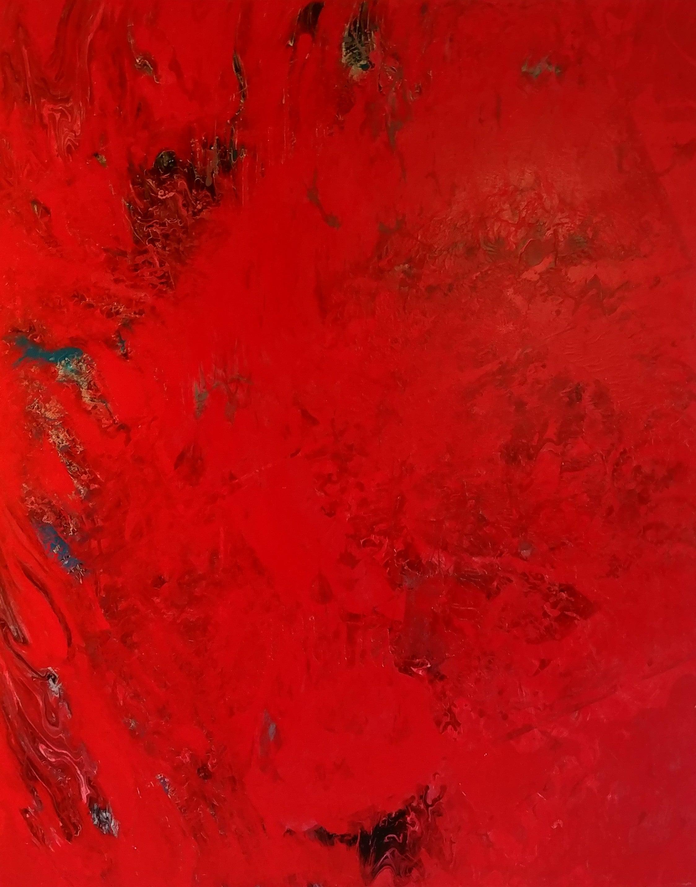 Bursting Forth-Red 60 X 48