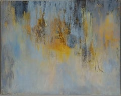 Sunrise Sunset- Blues, cream and gold 48 X 60