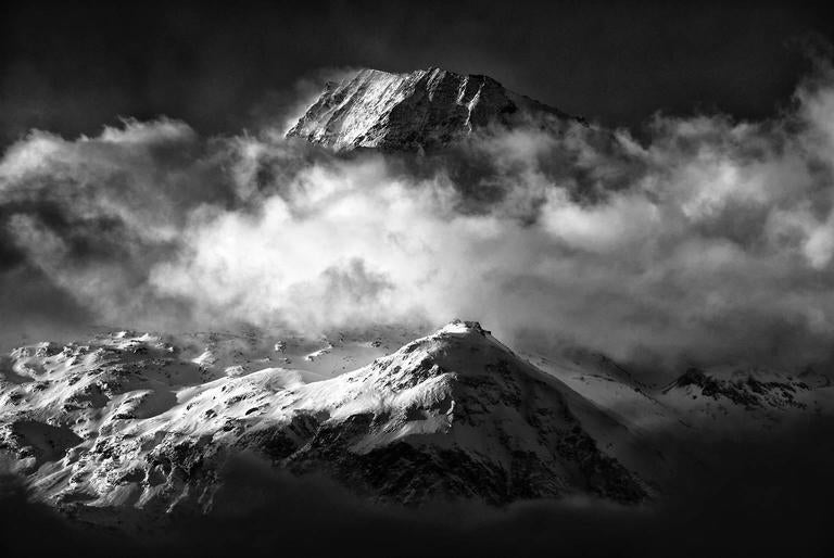 Ian Tudhope Black and White Photograph - Auguille Rouge, Savoie, France