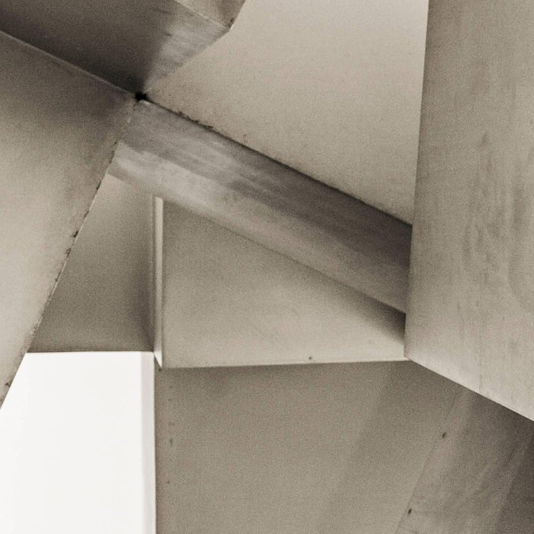 Sculpture of Blocks - Gray Black and White Photograph by Massimo Di Lorenzo