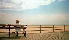 Brighton Beach Contemplating Man