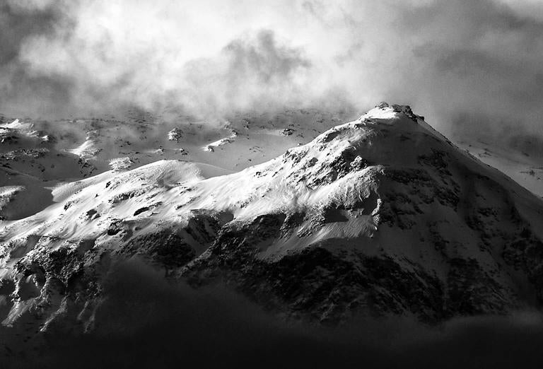 Auguille Rouge, Savoie, France - Gray Black and White Photograph by Ian Tudhope