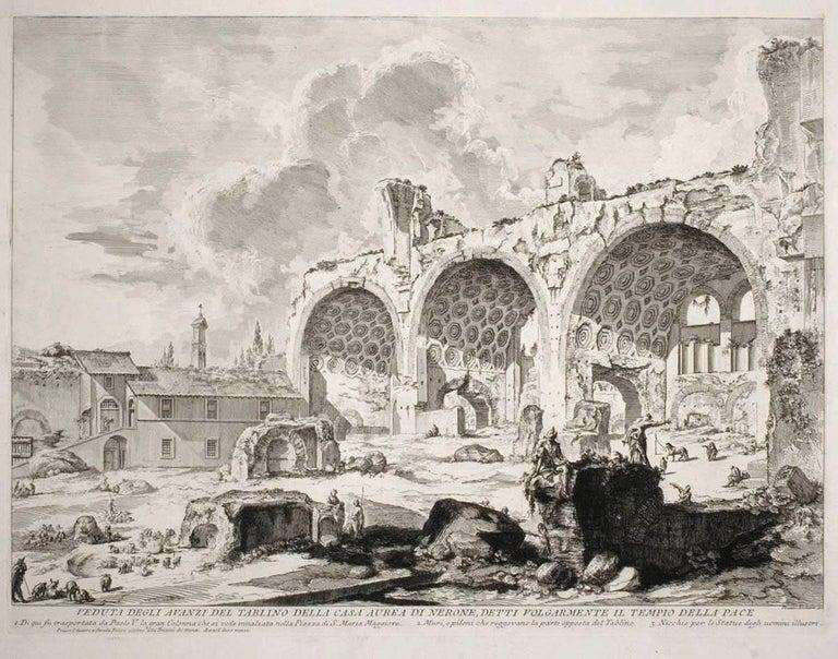 Giovanni Battista Piranesi Landscape Print - The Basilica of Constantine