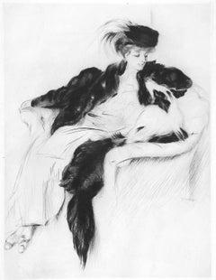Woman with Collie Dog (La Femme au Chien Colley)