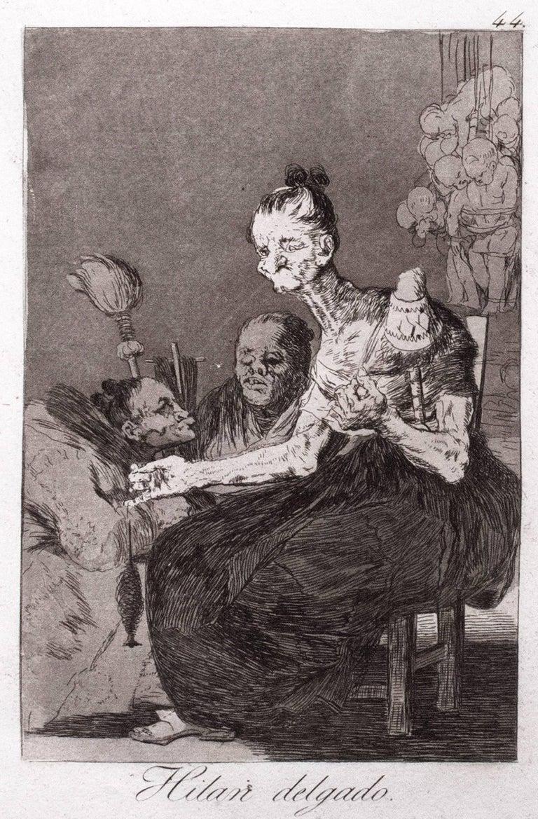 Francisco Goya Figurative Print - Hilan delgado (They spin finely)