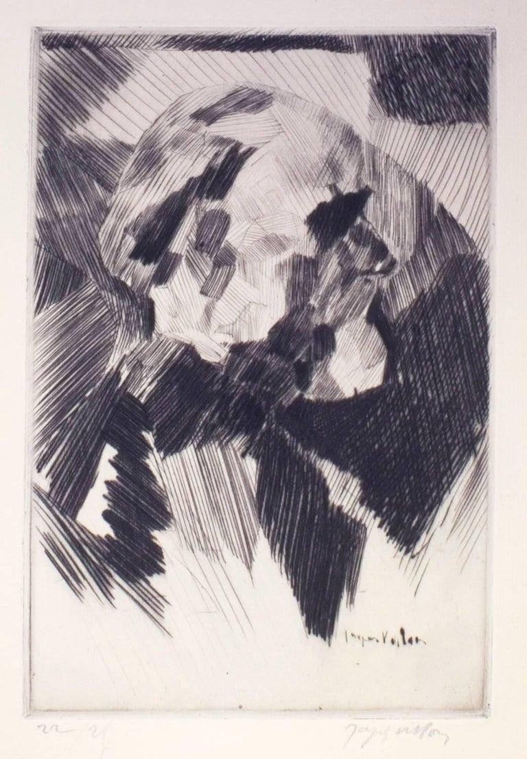 Jacques Villon Portrait Print - Portrait of E.D.