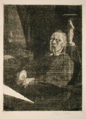 The Great Draughtsman Sitting (Self-Portrait)