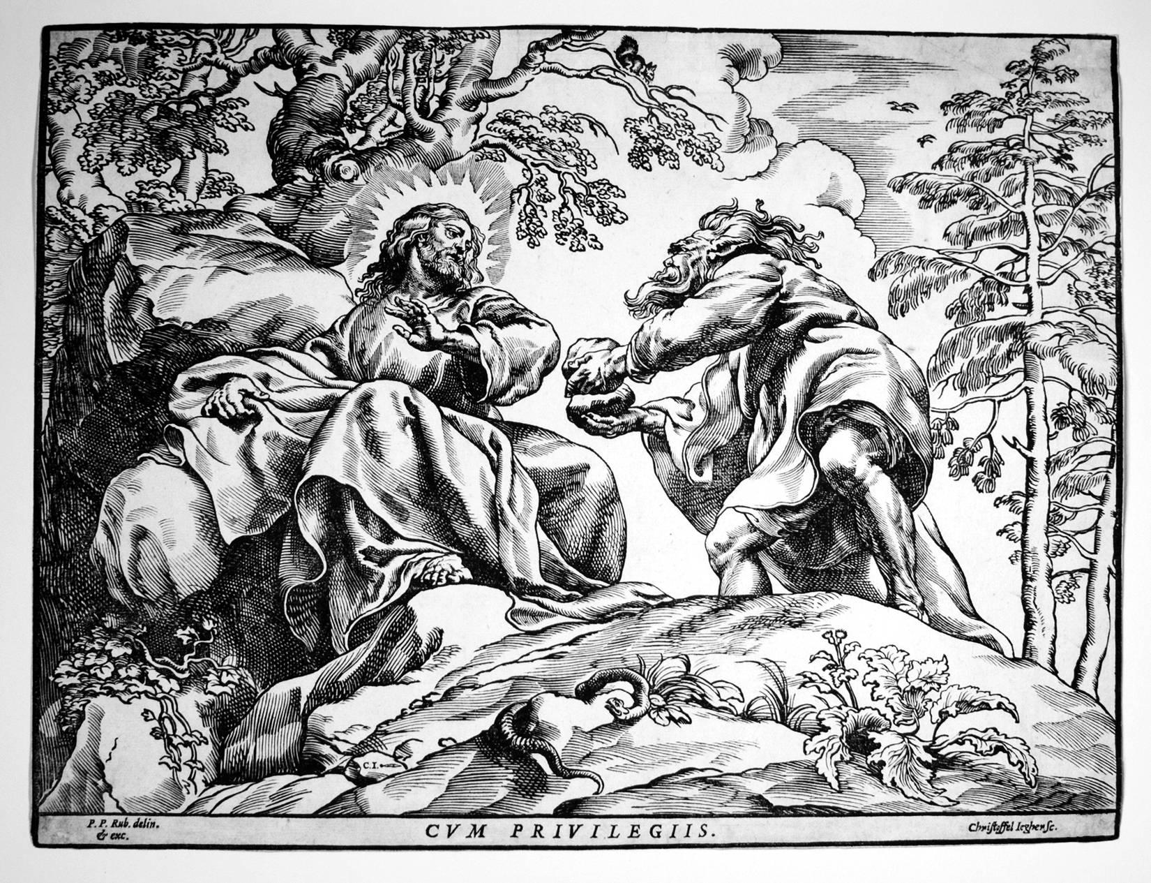 The Temptation of Christ by the Devil (2nd State)