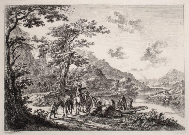 Jan Dirksz Both Landscape Print - View of the Tiber with Country Landscape