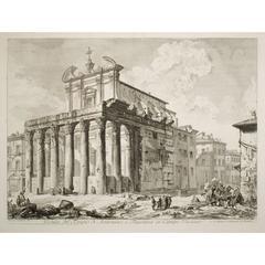 The Temple of Antoninus and Faustina (Veduta del Tempio di Antonio e Faustina)