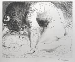 Minotaur Kneeling over Sleeping Girl