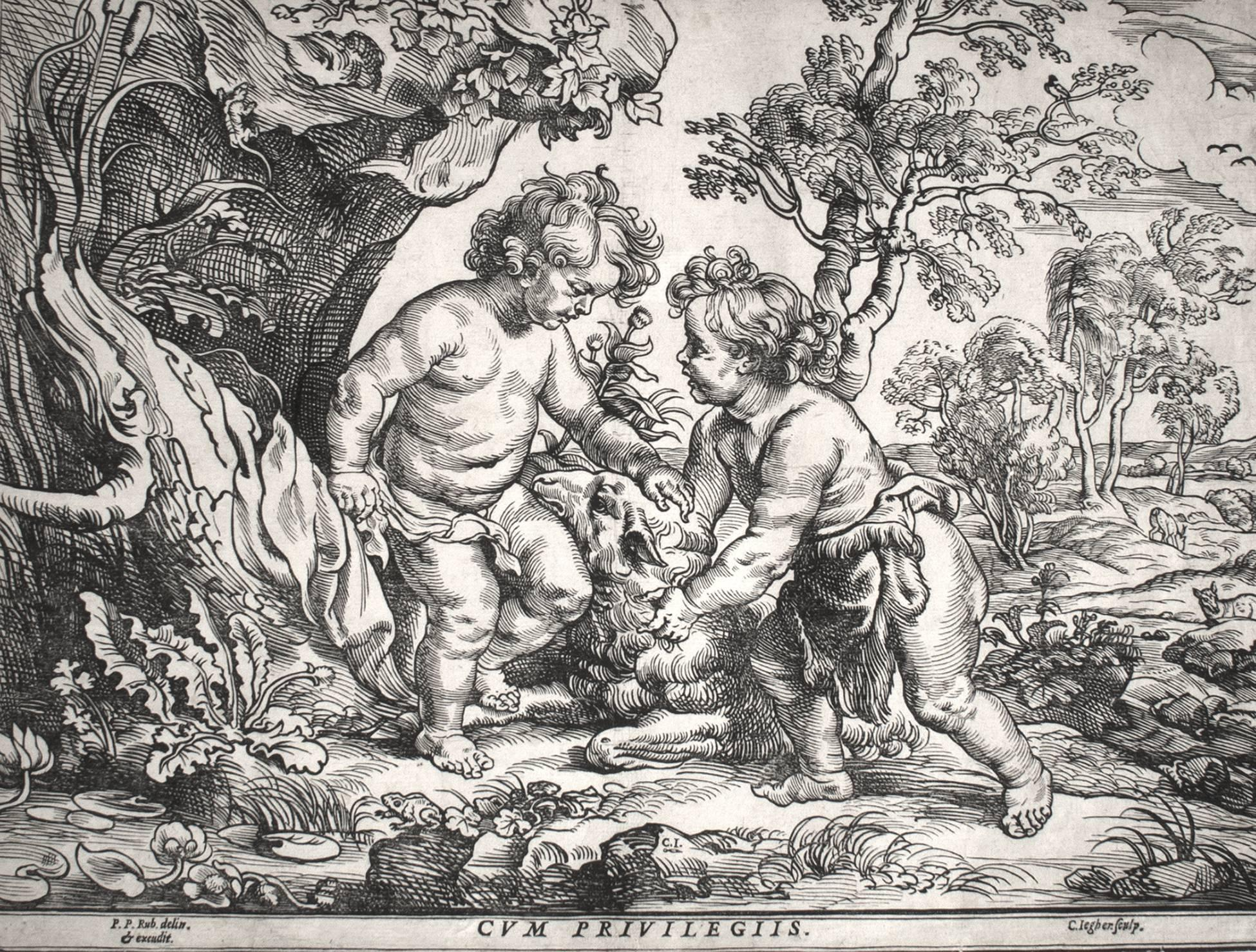 Christ and the Little Saint John Playing with the Lamb (2nd State)