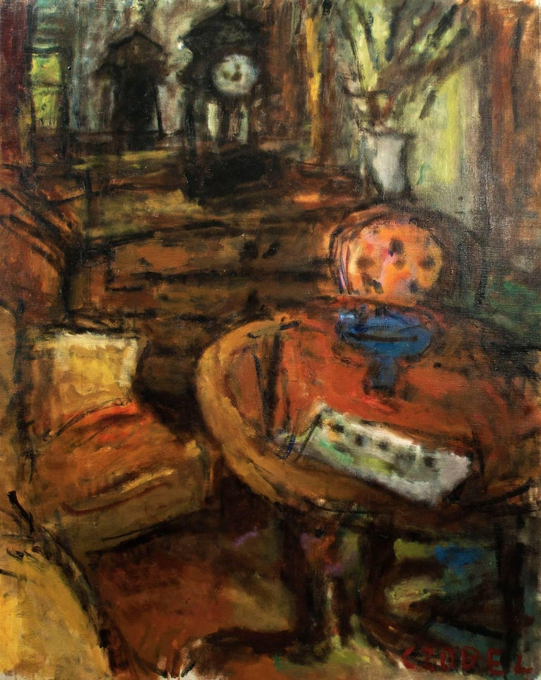 Béla Czóbel Interior Painting - Interior Scene - Szentendre