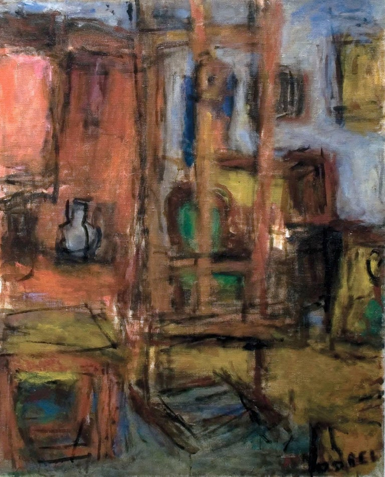 Béla Czóbel Interior Painting - Interior Atelier