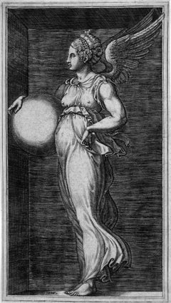 Allegorical Figure, Holding a Ball