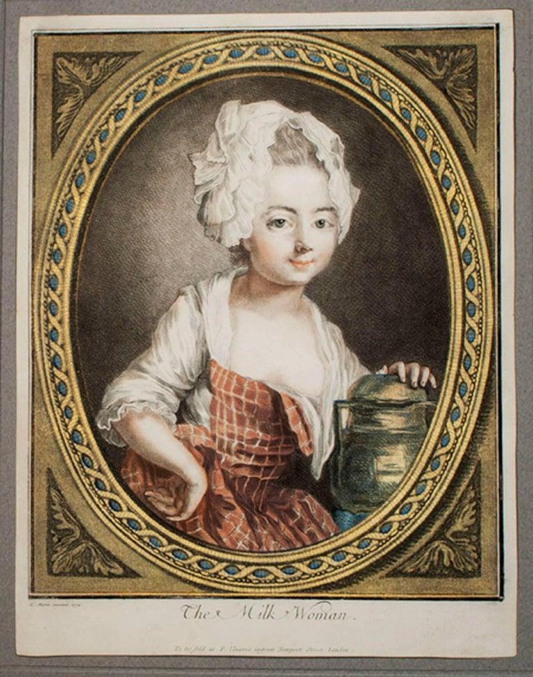 Louis-Marin Bonnet Portrait Print - The Milk Woman