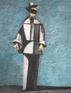 Arlecchino in blu e grigio (Harlequin in Blue and Gray)