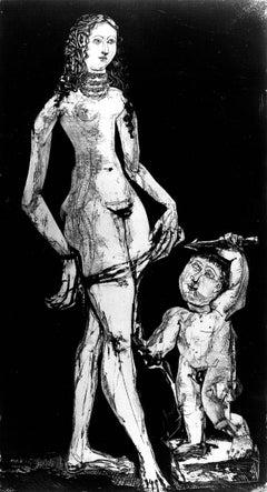 Vénus et l'Amour d'après Cranach (Venus and Amour, after Cranach)