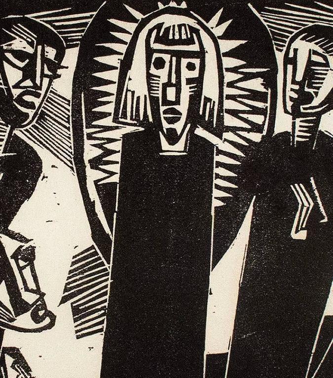 Christus under dem Frauen (Christ Among the Women) - Print by Karl Schmidt-Rottluff