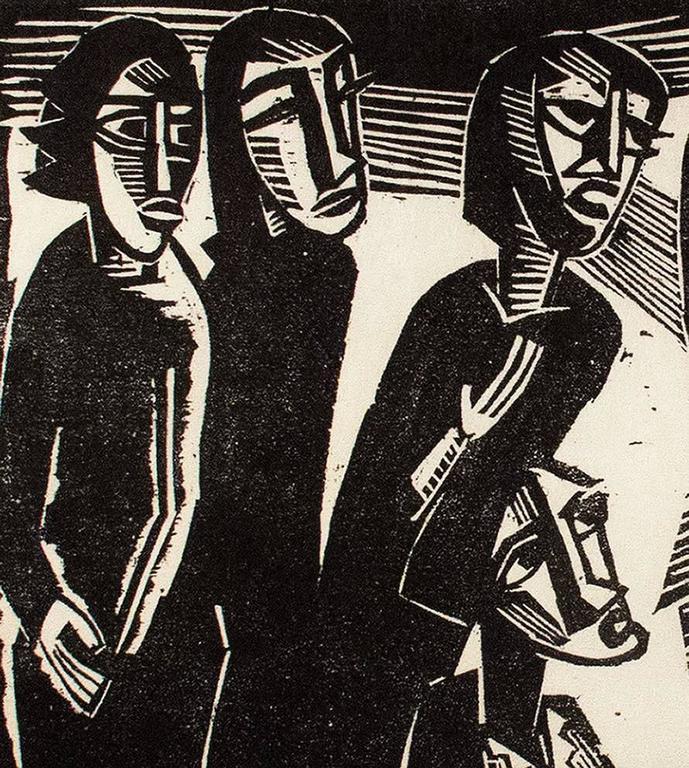 Christus under dem Frauen (Christ Among the Women) - Brücke Print by Karl Schmidt-Rottluff