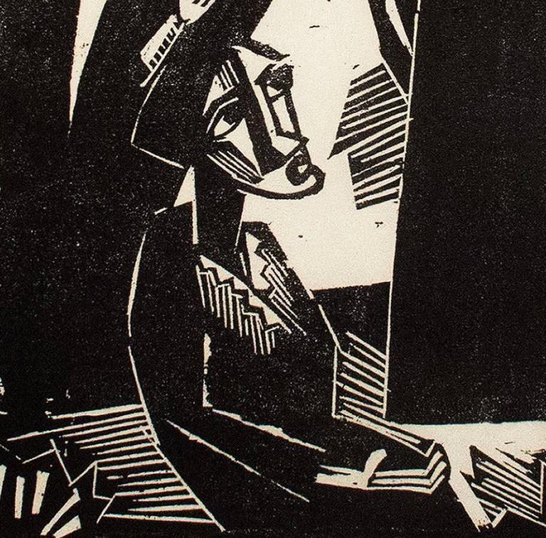 Christus under dem Frauen (Christ Among the Women) - Black Figurative Print by Karl Schmidt-Rottluff
