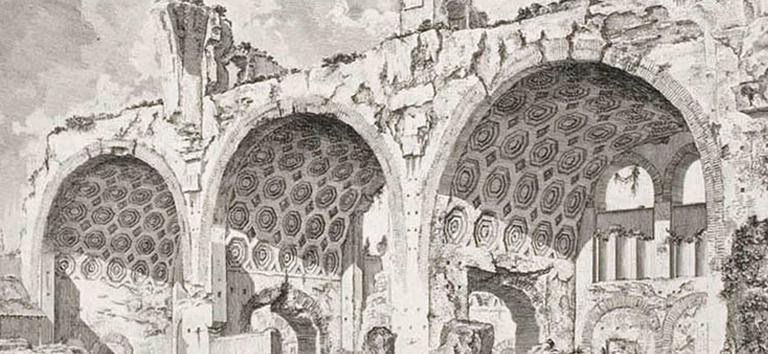 The Basilica of Constantine - Print by Giovanni Battista Piranesi