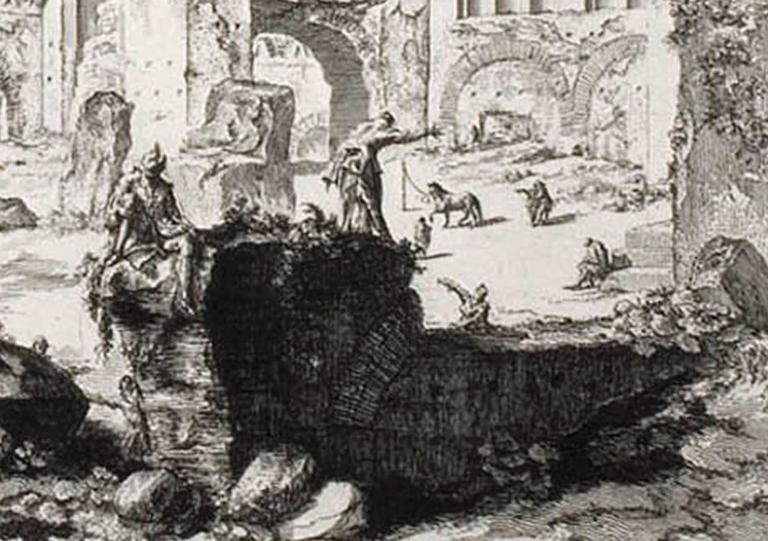 The Basilica of Constantine - Old Masters Print by Giovanni Battista Piranesi