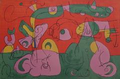 Joan Miró - Bougrelas et sa Mère from Ubu Roi