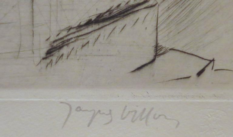 Le Banc de Pierre - Gray Figurative Print by Jacques Villon