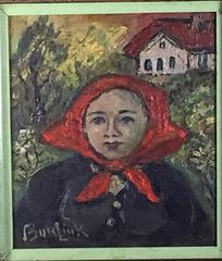 WOMAN WITH RED KERCHIEF