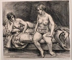 Marsh, Reginald. TWO MODELS ON A BED