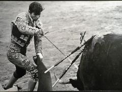 EL CORDOBES - Three photos of the great bullfighter