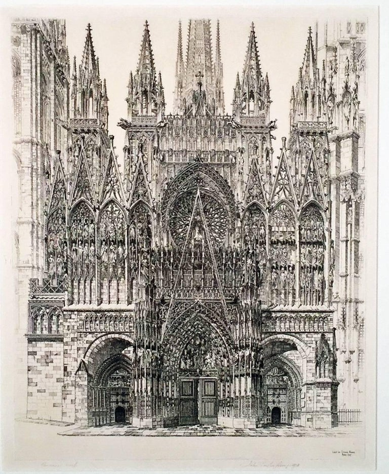 John Taylor Arms Print - LACE IN STONE - ROUEN CATHEDRAL