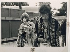 Jim Marshall - JIMI HENDRIX AND BRIAN JONES, MONTEREY POP FESTIVAL.
